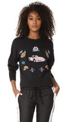 Wildfox Couture Charlotte Sweater Clean Black