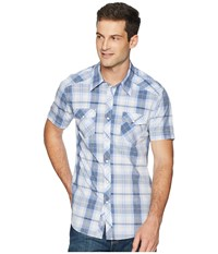 Rock And Roll Cowboy Short Sleeve Snap Plaid B1s6023 Blue Clothing
