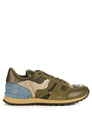 Valentino Rockrunner Camoucouture Print Trainers Green Multi