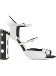 Fendi Polka Dot Sandals Black
