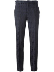 Pt01 Patterned Tailored Trousers Black