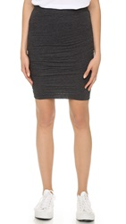 Velvet Larsa Knit Pencil Skirt Charcoal