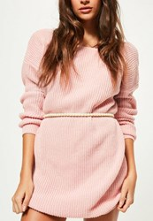 Missguided Nude Pearl Studded Belt