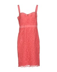 Betty Blue Knee Length Dresses Coral