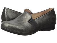 Dansko Addy Metallic Lizard Women's Flat Shoes Gray