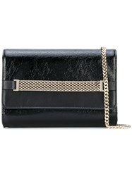 Lanvin Flap Chain Shoulder Bag Women Lamb Skin One Size Black