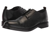 Frye Murray Oxford Black Washed Dip Dye Leather Shoes