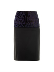 Pedro Lourenco Leopard Print Peplum Pencil Skirt