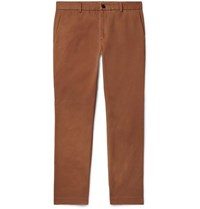 Gucci Slim Fit Cotton Drill Trousers Brown