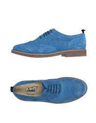 Snobs Footwear Lace Up Shoes Pastel Blue