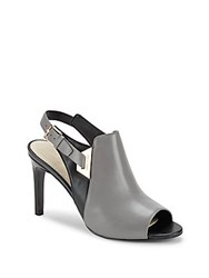 Cole Haan Selina Leather Stiletto Shooties Grey