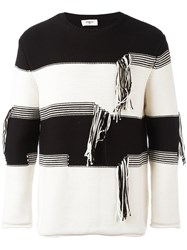 Ports 1961 Striped Thread Detail Jumper Black