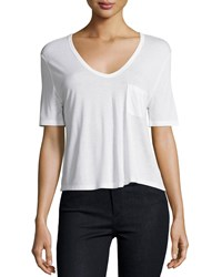 T By Alexander Wang Classic Cropped Tee W Pocket White