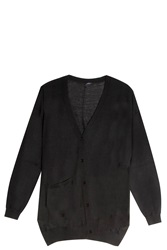 Joseph Asymmetric Cardigan Black