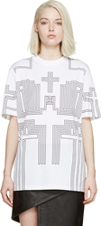 Givenchy Black And White Cross T Shirt