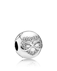 Pandora Design Charm Sterling Silver And Cubic Zirconia Infinity Heart Moments Collection