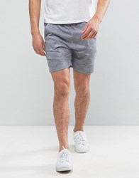 Solid Jersey Shorts In Digital Camo Print 9486 Grey