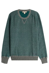 Burberry Brit Wool Cotton Pullover Green