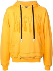 Haculla Chaos Logo Embroidered Hoodie Yellow