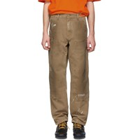 Heron Preston Brown Carhartt Edition Crystal Trousers