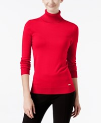 Calvin Klein Ribbed Turtleneck Sweater Rouge