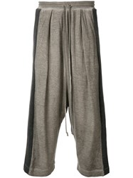 Lost And Found Rooms Harem Trousers Cotton Linen Flax Grey