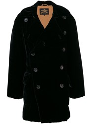 Vivienne Westwood Anglomania Double Breasted Midi Coat Black