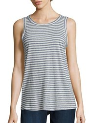 Current Elliott Striped Muscle Tee Anchor Stripe
