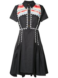 Peter Pilotto Navajo Shirt Dress Blue