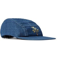 Story Mfg. Embroidered Organic Cotton Baseball Cap Blue