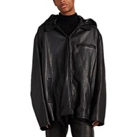 Vetements Anti Social Bouncer Leather Jacket Black