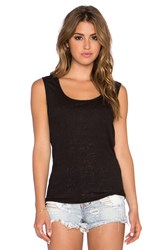 Twenty Drape Back Tank Black