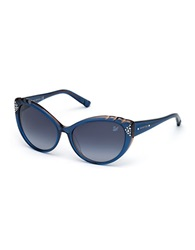 Swarovski Daisy Cats Eye Sunglasses Blue