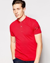 Dkny Short Sleeve Chest Logo Polo Red