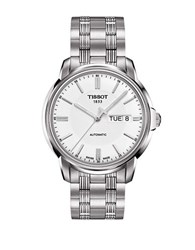 Tissot Stainless Steel White Dial Watch Silver