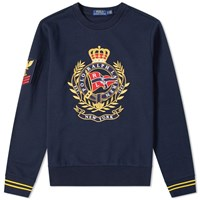 Polo Ralph Lauren Large Embroidered Motif Crew Sweat Blue