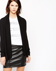 Mbym Colourblock Long Sleeve Cardigan 880Black