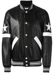 Givenchy Star And Stripe Applique Jacket Black
