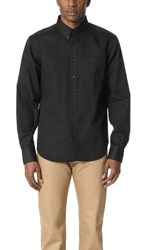 Naked And Famous Long Sleeve Button Down Shirt Black
