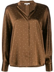 Vince Polka Dot Blouse Brown