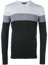 Michael Kors Collection Striped Jumper Grey