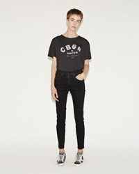 R 13 High Rise Skinny Jean Saturated Black