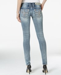 Rock Revival Skinny Embellished Medium Blue Wash Jeans