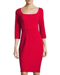 Alexia Admor French Design Scoop Neck Sheath Dress Red