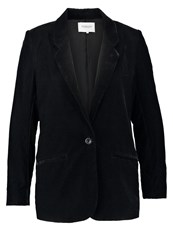 Soaked In Luxury Eliza Blazer Charcoal Black
