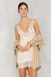Nasty Gal Peaches And Cream Lace Slip Dress