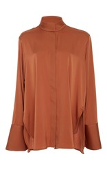Ellery Erotic Flared Cuff Blouse Brown