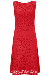 Havren Matilda Sleeveless Lace Dress Red