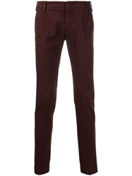 Entre Amis Slim Fit Chino Trousers Red