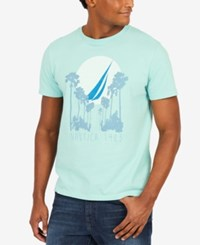 Nautica Graphic Print T Shirt Harbor Mist